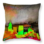 Atlanta Skyline Watercolor Throw Pillow