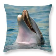 Atlantic Bottlenose Dolphin Throw Pillow
