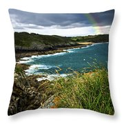 Atlantic Coast In Brittany Throw Pillow