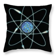 Atom Throw Pillow
