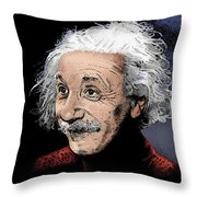 Atomic Albert Throw Pillow
