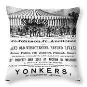 Auction Advertisement Throw Pillow