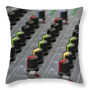 Audio Mixing Board Console Throw Pillow