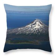 Augustine Volcano Cook Inlet Alaska Throw Pillow