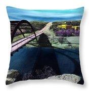 Austin 360 Bridge Throw Pillow