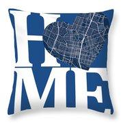 Austin Street Map Home Heart - Austin Texas Road Map In A Heart Throw Pillow