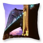 Australia, Sydney, Harbor Bridge Throw Pillow