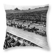 Auto Race, C1922 Throw Pillow