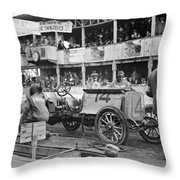 Auto Racing, 1910 Throw Pillow