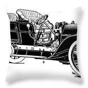 Automobile, 1907 Throw Pillow