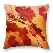 Red Blaze Throw Pillow