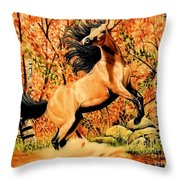 Autumn Frolick Throw Pillow