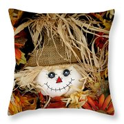 Autumn Greetings Throw Pillow