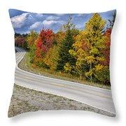 Autumn Highland Scenic Highway Throw Pillow