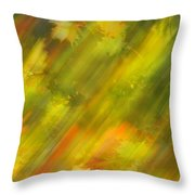 Autumn Leaves On The Abstract Background Throw Pillow
