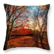 Autumn Shadows Throw Pillow