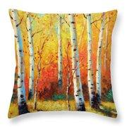 Autumn's Glow Throw Pillow