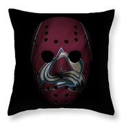 Avalanche Jersey Mask Throw Pillow