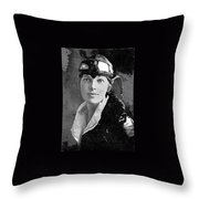 Aviator Amelia Earhardt No Date-2010 Throw Pillow