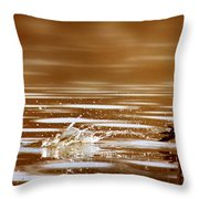 Away Quickly Throw Pillow