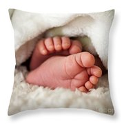 Baby Toes Throw Pillow