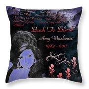 Back To Black Throw Pillow