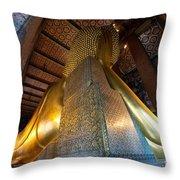Back View Of Reclining Buddha Throw Pillow