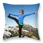 Backcountry Yoga Throw Pillow
