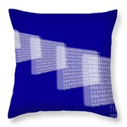 Background Numbers Throw Pillow