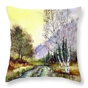 Backroads Throw Pillow