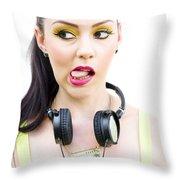 Bad Taste In Music Throw Pillow