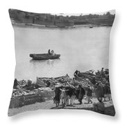 Baghdad Tigris River, 1932 Throw Pillow