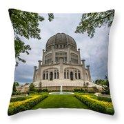 Baha'i House Of Worship Throw Pillow