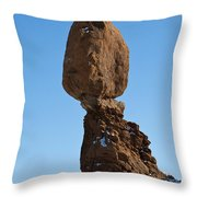 Balanced Rock Arches National Park Utah Throw Pillow