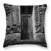Balinese Hindu Temple Throw Pillow