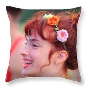 Ballerina Scarlett Bliss Rw2k14 Throw Pillow