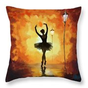 Ballet Dancer Throw Pillow