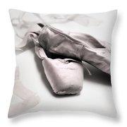 Ballet Slippers Throw Pillow by Diane Diederich