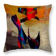 Ballet Slippers Throw Pillow