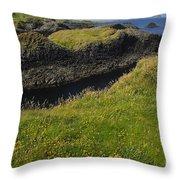 Ballintoy Harbor Throw Pillow