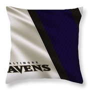 Baltimore Ravens Uniform Throw Pillow