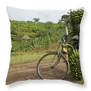 Banana Bike Throw Pillow