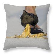 Banana Peel Throw Pillow