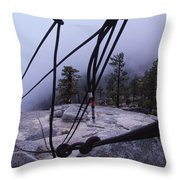 Bandaloop Dance Company, Yosemite, Ca Throw Pillow