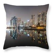 Bangkok By Night Throw Pillow
