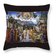 Baptism Of Christ Throw Pillow
