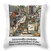 Barber-surgeon, 1568 Throw Pillow