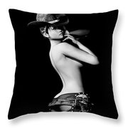Bareback Revisited Throw Pillow