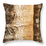 Bark Of A Tree Throw Pillow