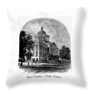 Barton Academy - Mobile Alabama Throw Pillow